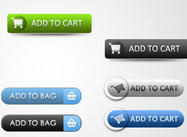 Saubere E-Commerce Web Buttons