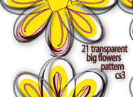 21 transparent big flowers pattern