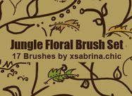 Jungle Floral Brushes