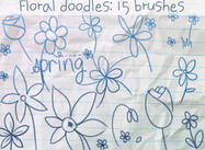 Flower Doodles Borstels
