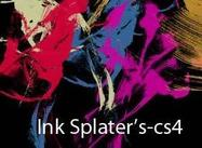 Pincel CS4 de splatter de tinta