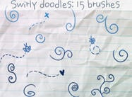 Swirly Doodles Borstels