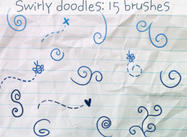 Swirly Doodles Pinsel