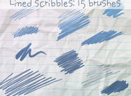 Lined Scribbles Brushes