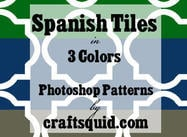 3 Colors Spanish Tiles by Craftsquid