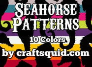 10 Patterns colorés de Seahorse