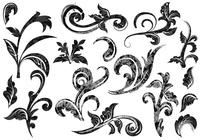 Grunge Baroque Swirl Brushes