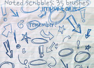 Noted Scribbles Brushes