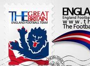 Angleterre Crest + Stamp