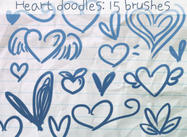 Heart Doodles Brushes 2
