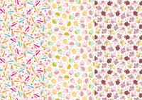 Cupcakes und Cones Photoshop Patterns