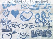 Love Doodles Borstels