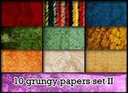 10 Grungy papers set II