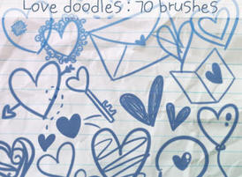 lovedoodles2 Free Photoshop Brushes for Valentines Day