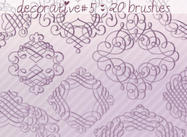 Decorative Brushes 5
