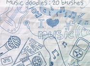 Music Doodles Brushes 1