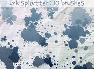 Ink Splatter Pinsel