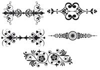 Art-nouveau-border-brush-pack-two-photoshop-brushes