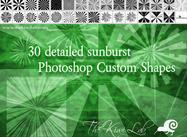 30 sunburst shapes