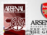Arsenal logo + Postzegel