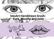 TessArt Handdrawn Eyes Mouths and Nose brush