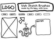 Website Design Sketch Brushes by Chrispy