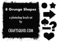 6 Grunge Shape Brushes