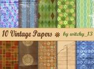 10 vintage papieren