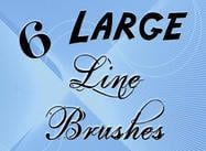 6 LARGE line brushes