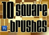 10 Square Brushes