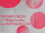 5 Grungy Textured Circles