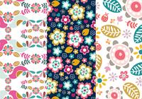 Flowers and Birds Pattern Pack Two