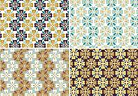 Höstblomma Seamless Patterns