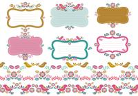 Floral Tags & Border Brush Pack Zwei