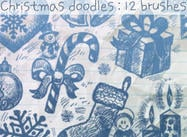 Christmas-brush-doodles