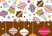 Retro Christmas Ornament Pattern & Wallpaper de Navidad