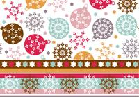Snowflake Ornament Wallpaper & Photoshop Mönster