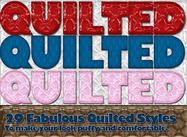 Quilted Photoshop Styles