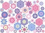 9 pincéis de flores por amd