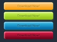 10 Farbe Psd Download Buttons