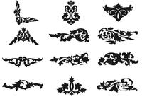 Decorative Floral Ornaments Brush Pack
