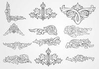 Decorative-floral-outlined-ornaments-brushes