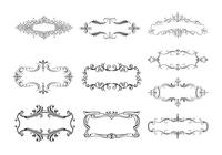 10 Floral Ornamental Banner Brushes