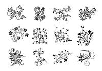 12 Swirly Floral Brushes