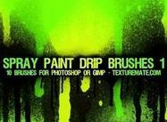 Spray Paint Drip Pinsel 1