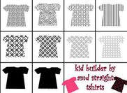 straight tshirts for kid builder series