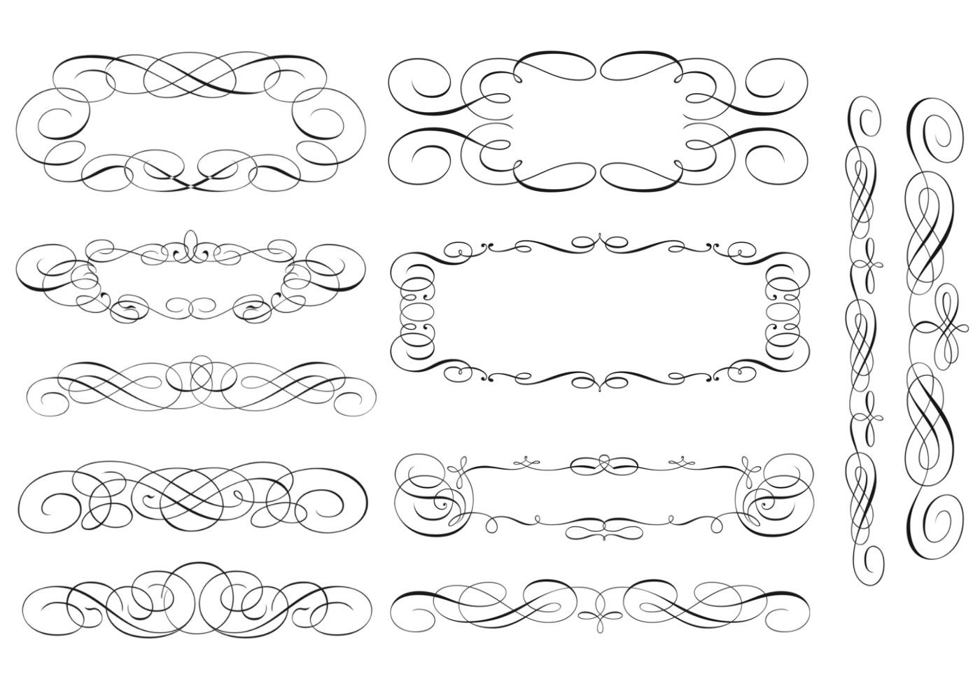 Swirly Scroll Frame and Border Brushes - Free Photoshop Brushes at ...