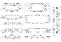 Swirly Scroll Frame und Border Pinsel