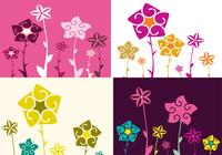 Four Floral Photoshop Wallpaper Pack
