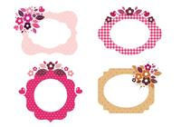 Floral Patterned Frame Brushes
